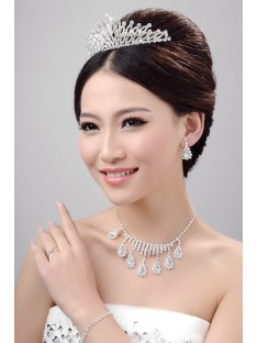 Wedding Headpieces Necklaces Earrings Set ZDRESS4014