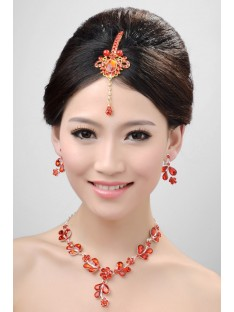 Wedding Headpieces Necklaces Earrings Set ZDRESS4016
