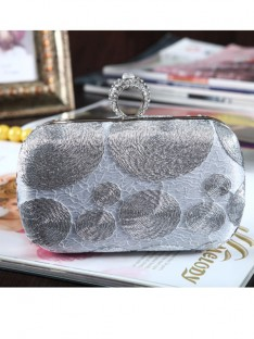 Silk With Rhinestone Handbags