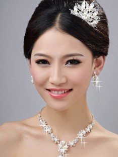 Wedding Headpieces Necklaces Earrings Set ZDRESS4005