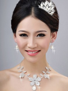 Wedding Headpieces Necklaces Earrings Set ZDRESS4006