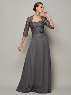 Chiffon Sweetheart Floor-Length Mother Of The Bride Dress