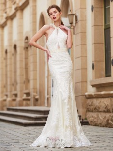 Sheath Jewel Floor-Length Lace Dress with Applique