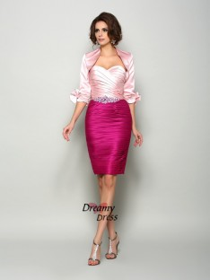 Fashion 1/2 Sleeves Satin Special Occasion Wrap
