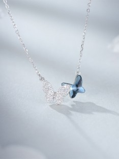 Silver with Butterfly Women Necklaces