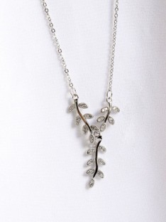Sterling Silver Women Necklaces with Leaf