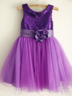 A-Line Tulle Scoop Knee-Length Flower Girl Dress