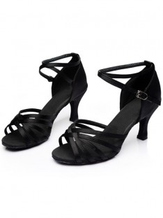 Kitten Heel Peep Toe Sandals