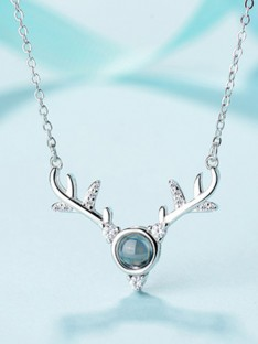 Silver with Antler Necklaces