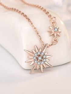 Silver with Sun Ladies Necklaces