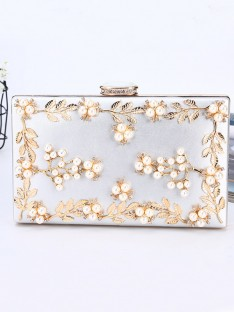 PU Evening/Party Handbags with Beading