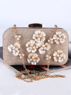 Pearl Evening/Party Handbags with Flowers
