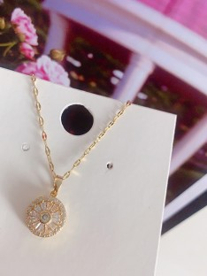 Occident Titanium with Crystal Hot Sale Necklaces