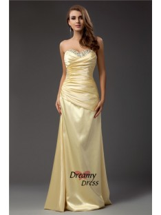 Sheath Sweetheart Long Taffeta Dress