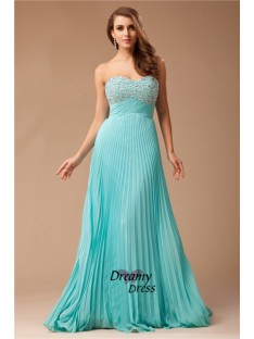 Empire Sweetheart Long Chiffon Dress
