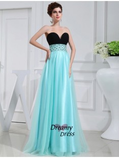 A-Line Sweetheart Elastic Woven Satin Dress