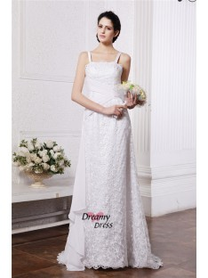 Sheath/Column SquareSweep/Brush Train Chiffon Net Wedding Dress