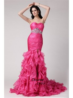 Mermaid Sweetheart Long Organza Dress