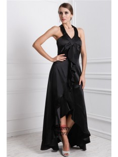 A-Line Bateau High Low Silk like Satin Dress