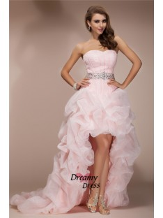 A-Line Sweetheart High Low Organza Dress