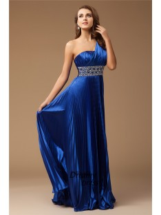 Sheath One-Shoulder Long Elastic Woven Satin Dress