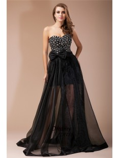 Sheath Sweetheart Long Organza Elastic Woven Satin Dress