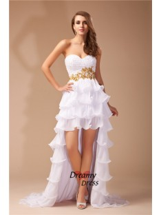 A-Line Sweetheart High Low Chiffon Dress
