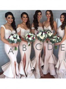 Mermaid Long Layers Sequins Bridesmaid Dress