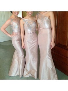 Mermaid One-Shoulder Satin Floor-Length Bridesmaid Dress