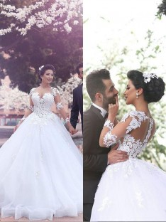 Ball Gown Court Train Sweetheart Tulle Wedding Dress