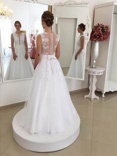 86ec0c43aee Trumpet Mermaid Lace Scoop Floor-Length Wedding Dress