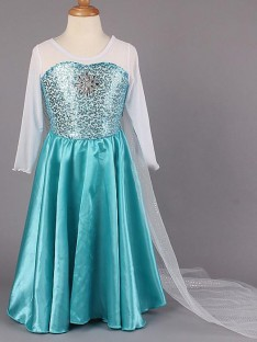 A-line Scoop Floor-length Satin Flower Girl Dress