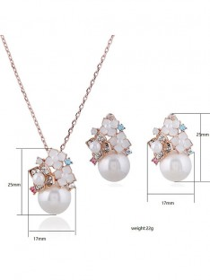 Alloy with Pearl Ladies Jewelry Set