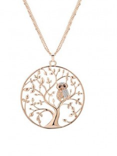 Alloy Women Necklaces with Tree