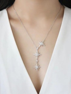 Sterling Silver with Star Ladies Necklaces
