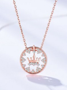 Silver with Crown Women Necklaces