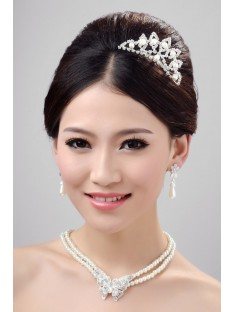 Wedding Headpieces Necklaces Earrings Set ZDRESS4013