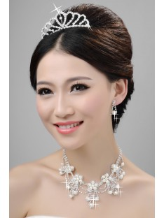 Wedding Headpieces Necklaces Earrings Set ZDRESS3995