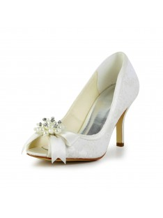 Heel Pumps Imitation Pearl and Wedding Shoes S4A31B21