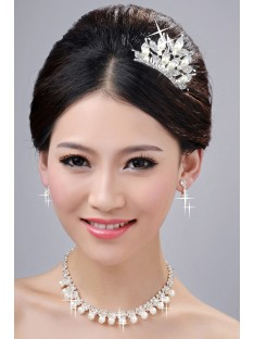 Wedding Headpieces Necklaces Earrings Set ZDRESS4003