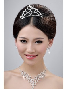 Wedding Headpieces Necklaces Earrings Set ZDRESS3982