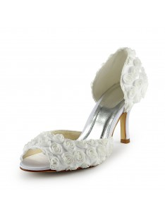 Gorgeous Heel Flowers Wedding Shoes S1A31B1A