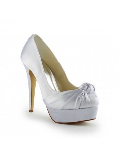 Gorgeous Heel Pumps Ruched Wedding Shoes S120113A