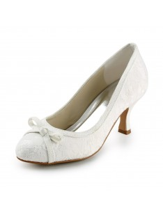Spool Heel Pumps Wedding Shoes S2586441
