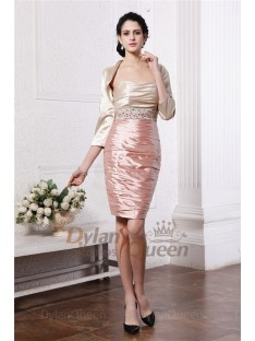 Brilliant 3/4 Sleeves Elastic Woven Satin Jacket/Wedding Wrap