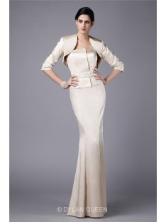 Amazing 3/4 Sleeves Elastic Woven Satin Jacket/Wedding Wrap