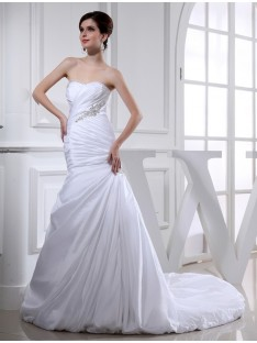 Mermaid Chapel Train Taffeta Wedding Dress
