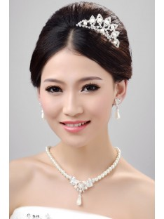 Wedding Headpieces Necklaces Earrings Set ZDRESS4012