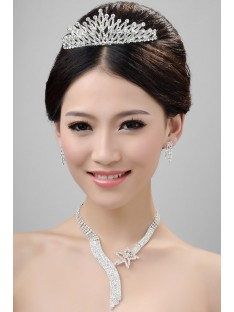 Wedding Headpieces Necklaces Earrings Set ZDRESS3988