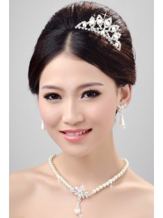 Wedding Headpieces Necklaces Earrings Set ZDRESS3997
